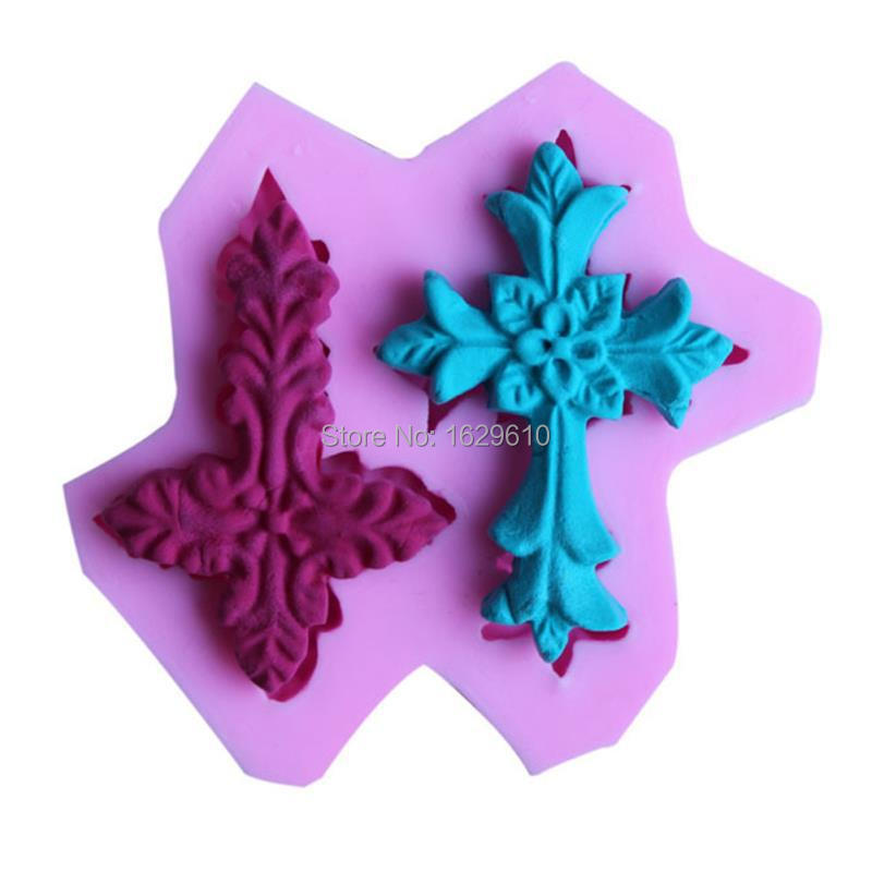 Top Fashion Cookie Cutter Cross Fondant Silicone Rubber Molds For Decorating Baking Tools Cakes Dessert Decoration(China (Mainland))