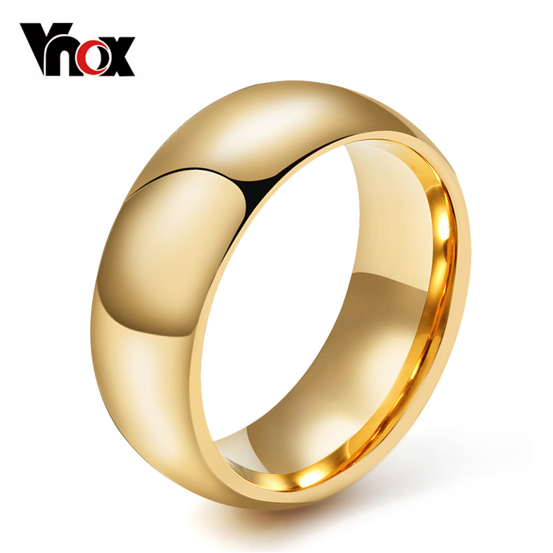Vnox 100% Tungsten Ring For Men Male Wedding Engagement Metal Classic Jewelry