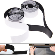 2 Rolls Black Strong Self Adhesive Hook Loop Tape Fastener Sticky 1M 3ft Free Shipping (China (Mainland))
