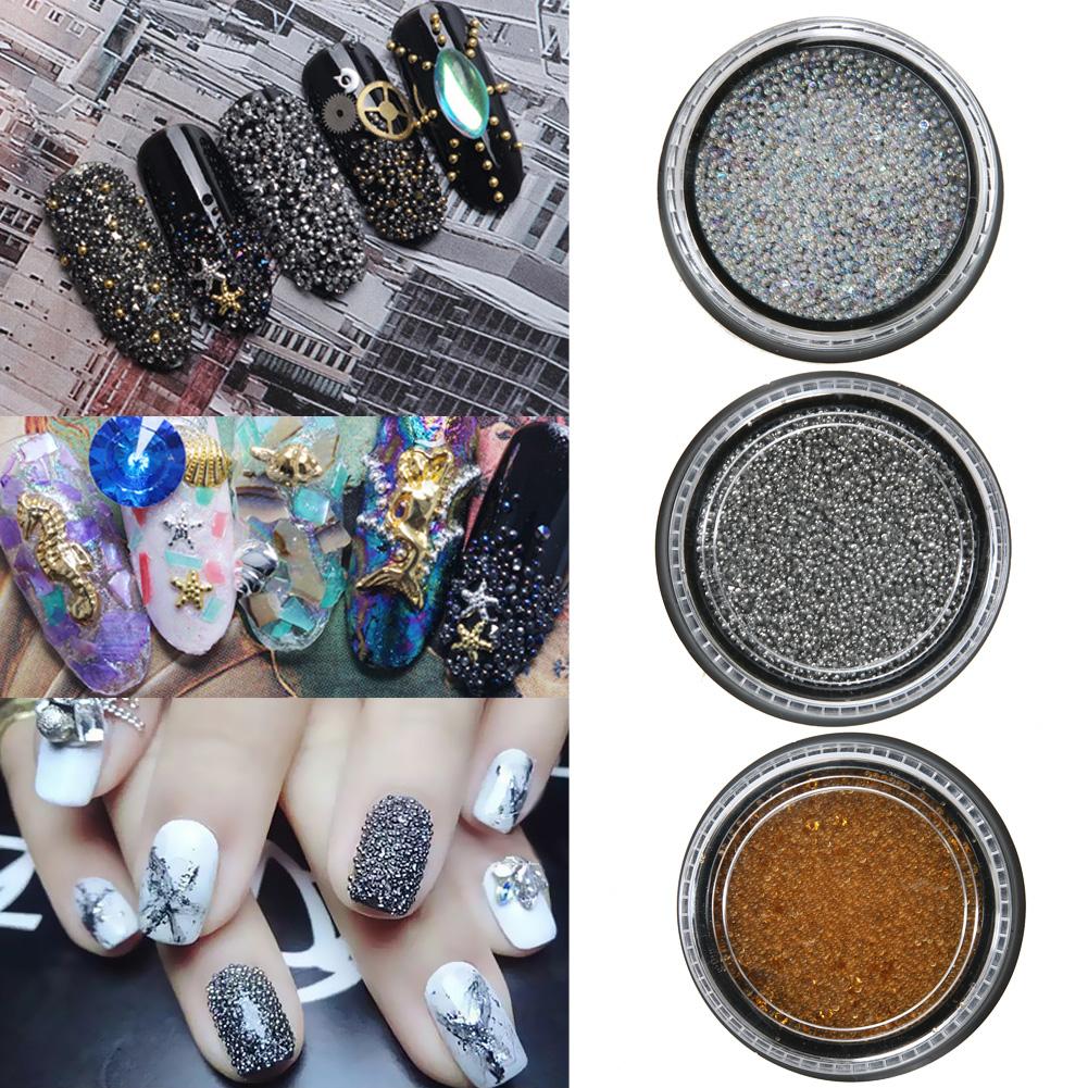 1Box Round Shape Nail Glitter Powder Dust 3D Bling Nail Glitter Powder Glass Polish Pearl Caviar Micro-Beads Nail Art Decoration(China (Mainland))