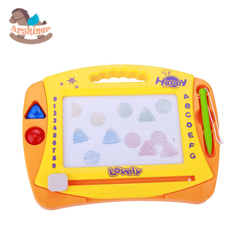 Arshiner Yellow Children Magnetic Doodle Board Sketch Pad Doodle Board Sketch Drawing Writing Board Writing Craft Art Baby Child(China (Mainland))