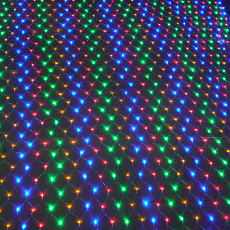 LED Christmas lights outdoor waterproof Net String Lights 1.5M x1.5M 96LED AC 220V/110V garland ...