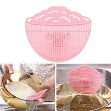 1 unid arroz Clean tamiz arroz utensilios de cocina cocina Manual utilidad no a duele la mano de lavado de arroz herramienta cocinero dispositivo(China (Mainland))