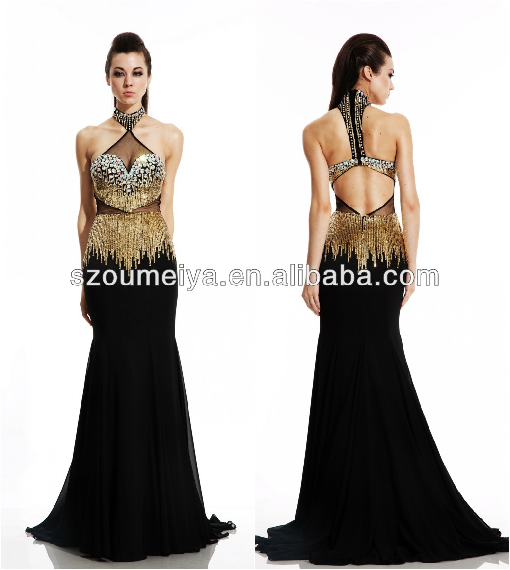 Short black and gold prom dresses 2014
