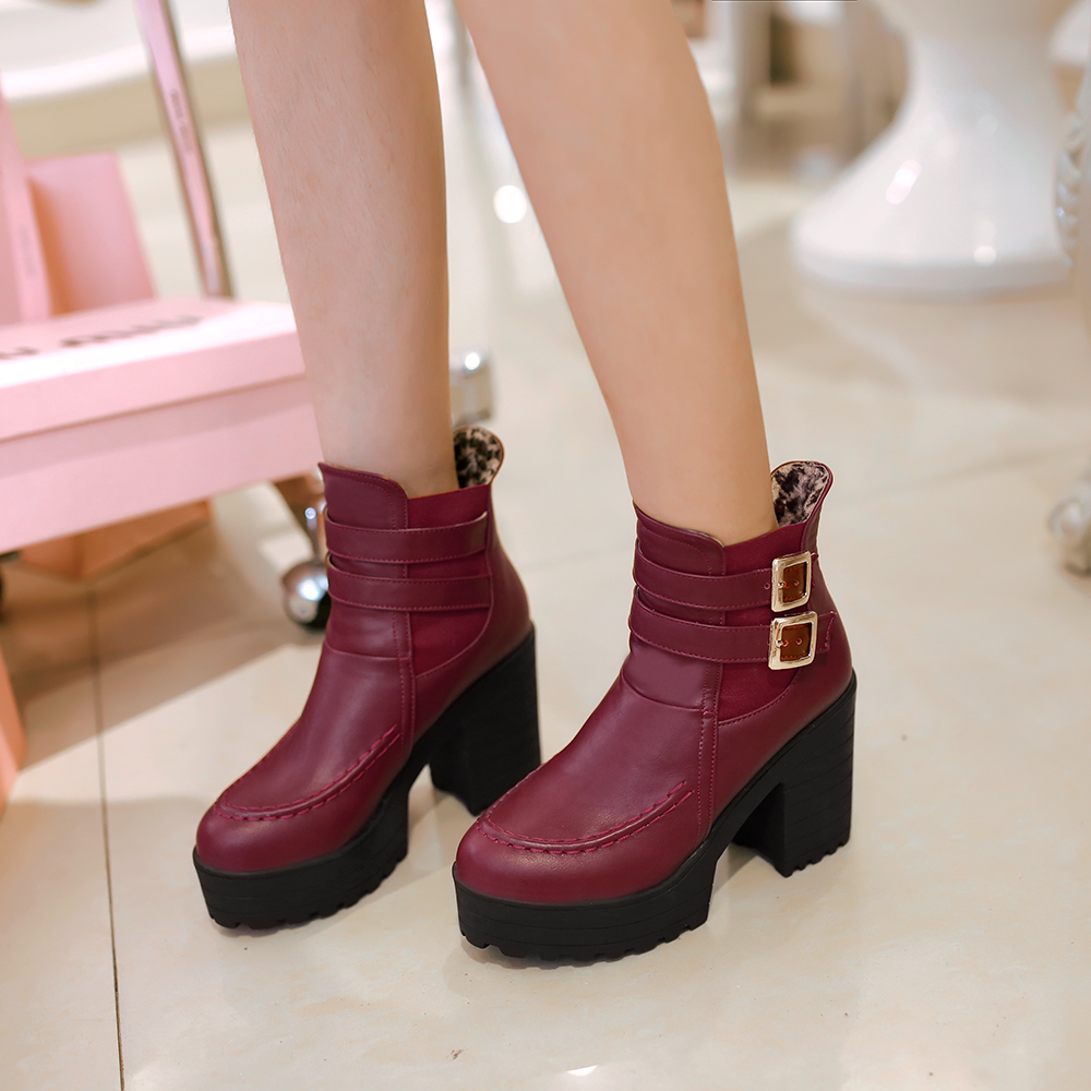 2015 Winter Autumn New Marten Elastic Band Fashion Ankle boots Women Buckle Slip-On Boots Fashion Ankle Shoes Size 34-39 R709<br><br>Aliexpress