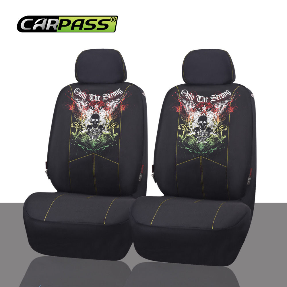Car-pass Breathable Front Car Seat Covers 2pcs Universal Fit Car Interior Accessories Summer Winter Type Seat Covers(China (Mainland))