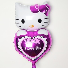 Buy Kitty Cat Baloon Birthday Party Decoration Balloons Wedding Foil Balloons Kitty Cat Baloon Toys Balloons 74*48cm for $46.92 in AliExpress store