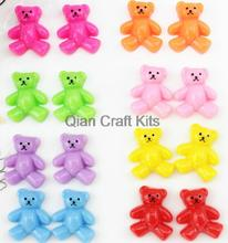 250pcs mixed color resin bear kawaii decoden flatback cabochons 22mm Cell phone decor hair accessory DIY