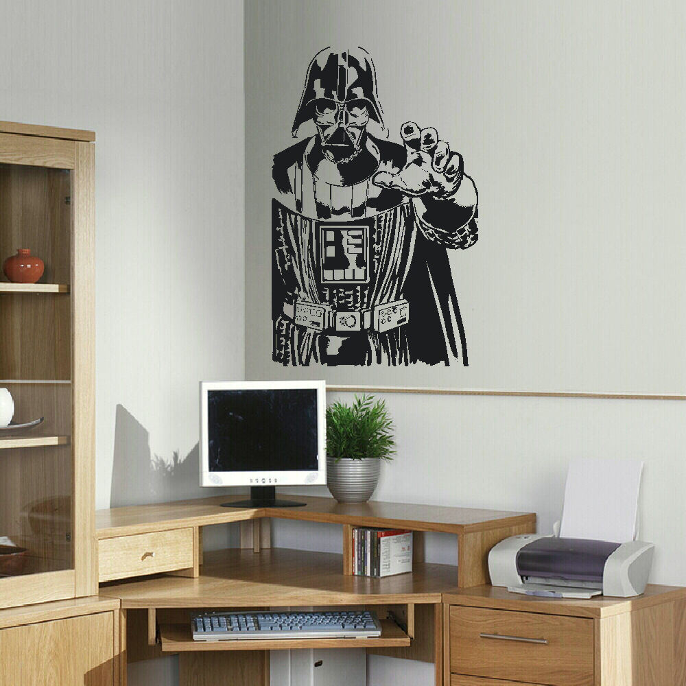 GIANT DARTH VADER STAR WARS CHILDRENS BEDROOM WALL STICKER ART SELF ADHESIVE PVC VINYL TRANSFER DECAL(China (Mainland))