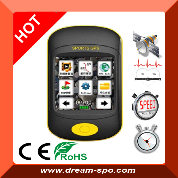 Free Shipping !! DG-350 GPS bicycle computer support touch screen / hear rate monitor for outdoor training