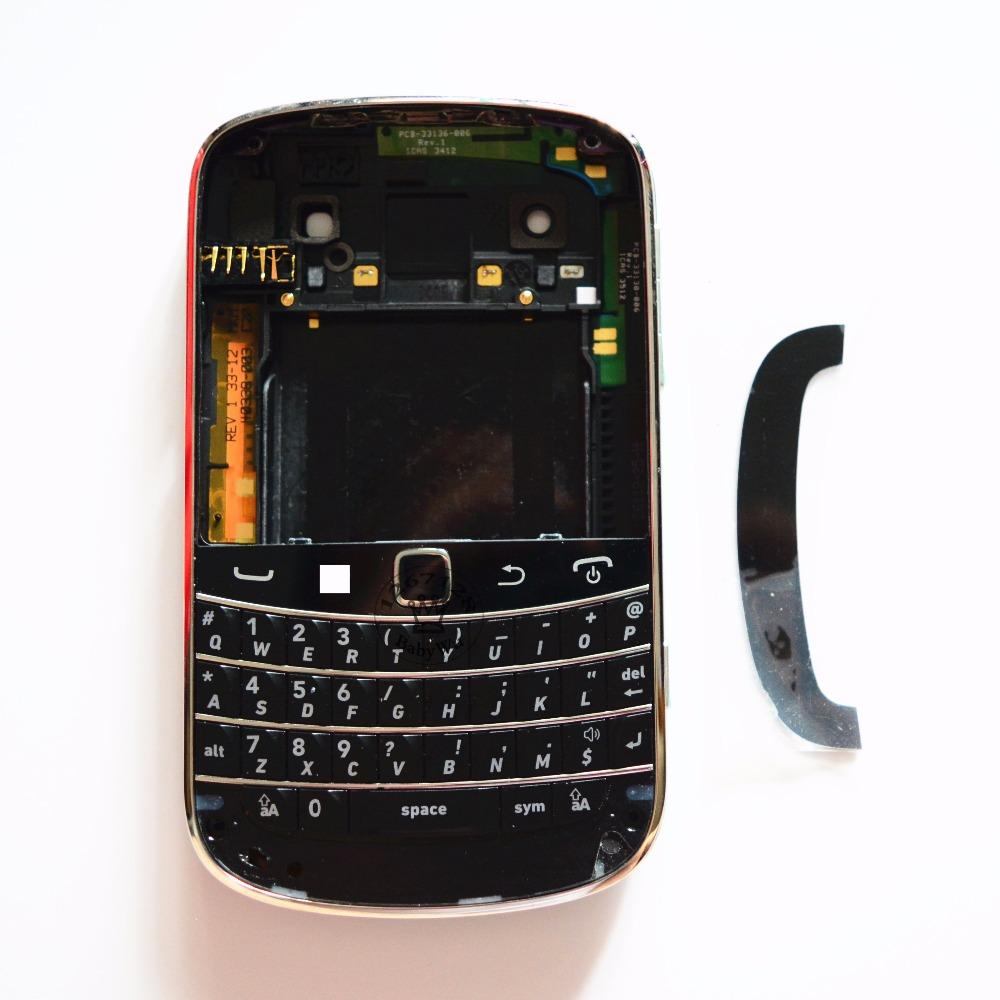 1Set For Blackberry bold 9900 Housing Full Cover Case Complete + Keyboard Flex Black/White(China (Mainland))