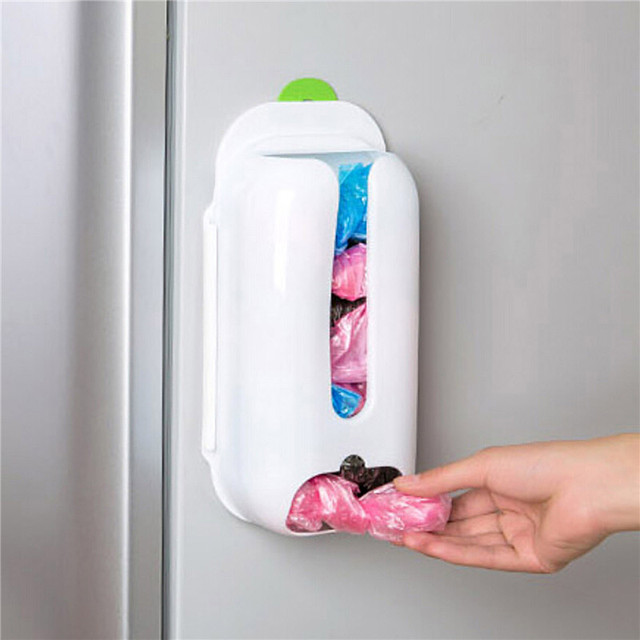 Dispensador de bolsas de pl stico de montaje en pared - Dispensador de bolsas de plastico ...