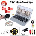 Endoscope 8mm USB Endoscope Android 5M 10M OTG PC USB Endoscopio Mini Endoscope Camera 720P Inspection
