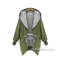 2015 Hot Sale Winter Coat Women Hooded Long Sleeve Warm Casual Loose Parka Jacket Outwear Plus Size M XL XXL Free Shipping 1658
