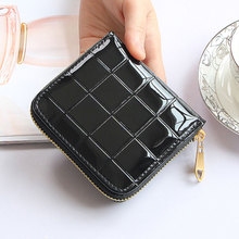 Buy Women Short Wallets shiny PU Leather Female Plaid Purses zipper Card Holder Fashion Woman Small Zipper Wallet Coin Purse for $3.59 in AliExpress store