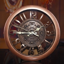 2015 New creative fashion European retro living room wall clock mute quartz digital watches