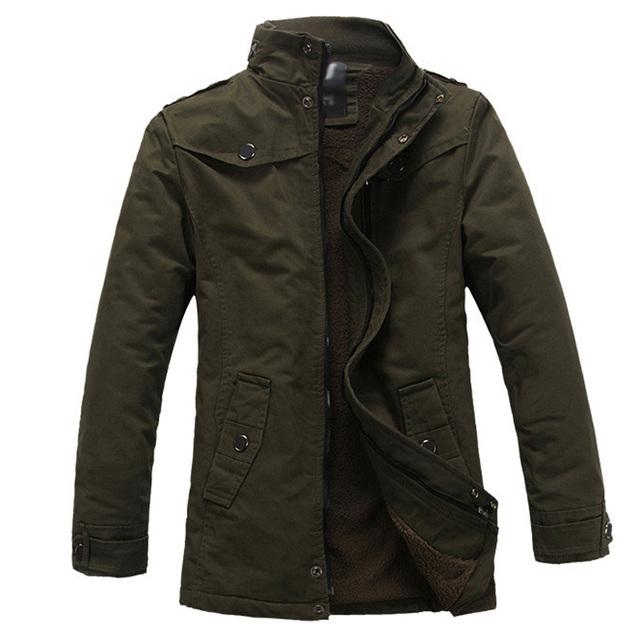 Мужские зимние куртки толстый теплый хлопок - мягкие-пальто куртка зимний парка Heren ...
