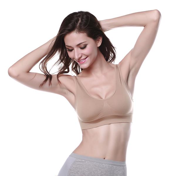 Spring Sexy Tops Women Bust Bra Push Up Seamless Cotton Sport Bra Sleeping Running Active Underwear(China (Mainland))
