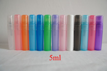 Wholesale Mix Order 100pcs/lot 5ml Multicolor Translucence Plastic Atomizer Bottle Travel Makeup Perfume Spray Refillable Bottle(China (Mainland))