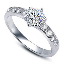 2016 new arrival bestselling luxury CZ diamond 925 sterling silver female wedding rings jewelry(China (Mainland))