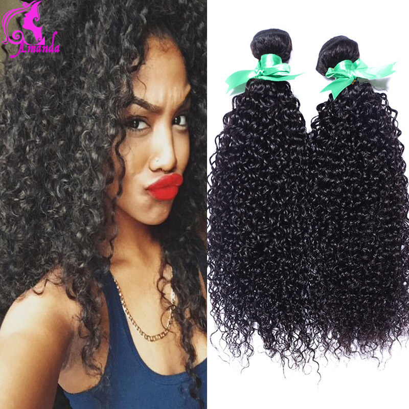 Crochet Hair Cheap : Curly Hair 2 Bundles 7A Unprocessed Afro Kinky Curly Hair Cheap Hair ...
