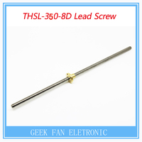 1 pcs T-type stepper motor screw T8X8 8x350mm Lead Screw Rod T Shape Linear Rail Bar Shaft with Brass Nut H005