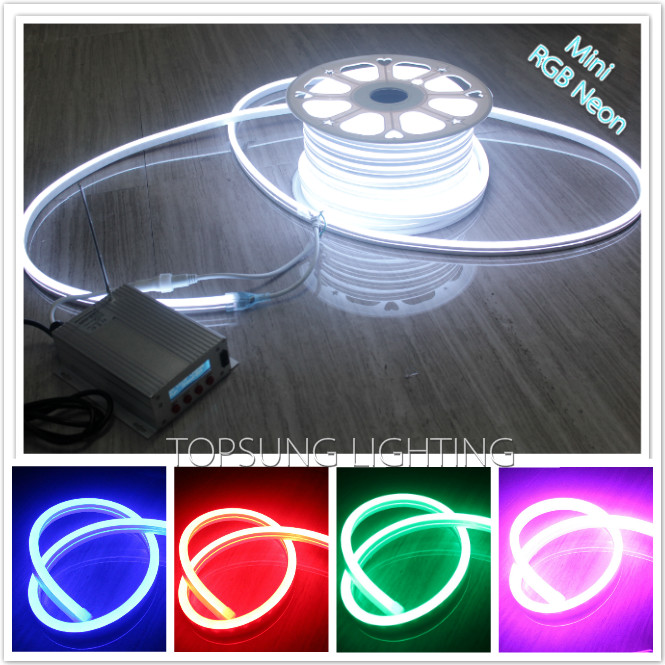 10M 220V RGB Strip Light Neon Flex 11x18mm 5050 SMD LED Neon Tape Lamps IP67 for Home Decoration or Outdoor Lighting Shop Sign(China (Mainland))