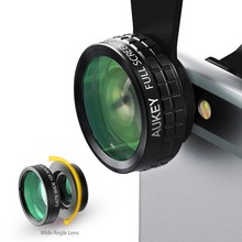 Buy AUKEY 180 Degrees Wide Angle Lens + Fisheye Lens + Macro Lens 3in 1 Clip-on Camera Phone Mobile Fish-eye Lens Xiaomi oth for $13.19 in AliExpress store