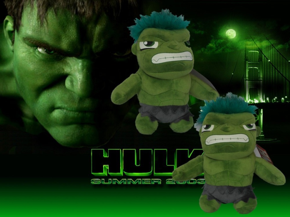 Delicate Design The Green Giant One Piece 20cm The Hulk Cartoon Characters Toys Stuffed Animals Plush Dolls Baby Kids(China (Mainland))