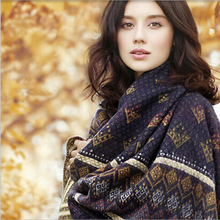 2016 Inverno Pashmina Hot Sale Ethnic Style Shawls And Scarves Wool Poncho Scarf Brand Women Fashion Big Size Keep Warm Echarpe(China (Mainland))