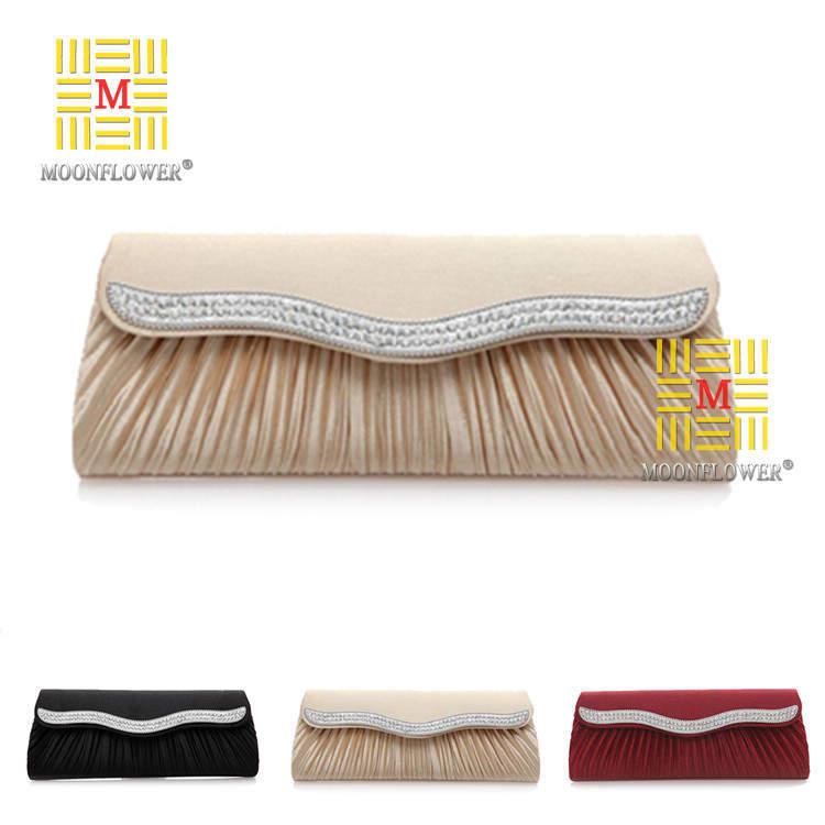 Bag Clutches Women Lady Rhinestones Satin Envelope Wedding Handbags Purses Party Chains Sac A Main Fashion Brand Luxury Sale(China (Mainland))
