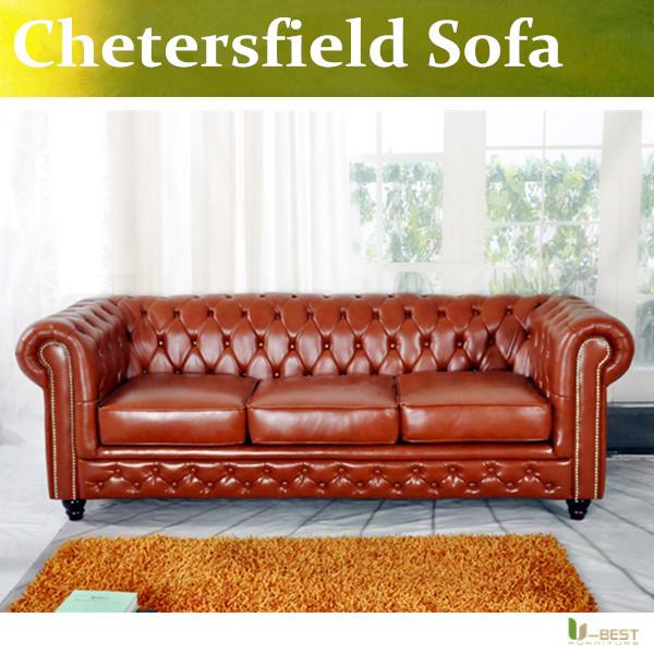 U-BEST high quality Classical sofa pull clasp sofa ,european style Chesterfield Sofa living room sofa(China (Mainland))