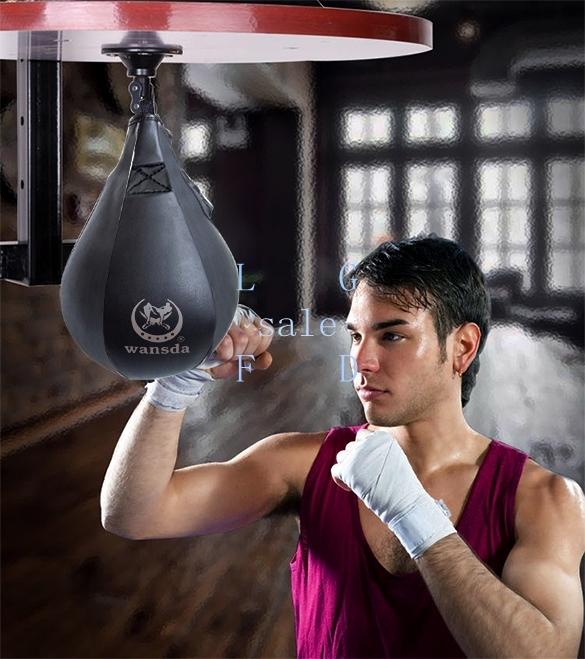 Cuir balle vertical speed boxe plafond balle sport vitesse sac punch exercice - Comment fabriquer un sac de frappe ...