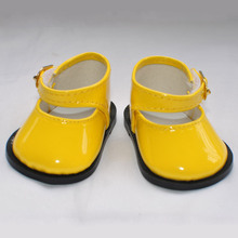 "free shipping  factory price Environmental protection 18""  INCH DOLL SHOES for AMERICAN GIRL black white yellow red ballet shoe(China (Mainland))"