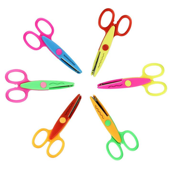 Купить Офисные и Школьные принадлежности  Delicate Kids Scissors for DIY Photo Album Handmade 6 Pattern Scissor  DIY Wave Stamps Decorative Hot Selling None
