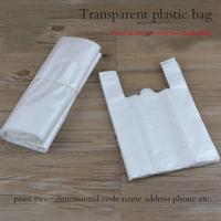 Transparent vest bags wholesale vest bag size plastic shopping bags custom Ma Jiadai bags