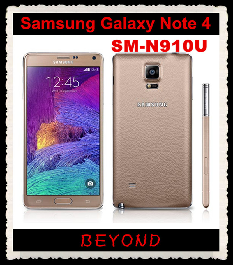 "Samsung Galaxy Note 4 N910U Original Unlocked GSM 4G LTE Android Mobile Phone Octa Core 5.7"" 16MP RAM 3GB ROM 32GB Dropshipping(China (Mainland))"
