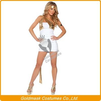 Hot Selling Retail Sexy Greek Godess Adult Woman Costume, Free Shipping+Fast Delivery