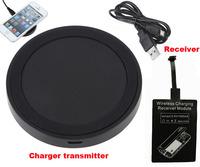 Universal Qi Wireless Phone Charger Receiver + Wireless Charger Transmitter Charger Pad For Oneplus One Asus Zenfone 5 Zenfone 2