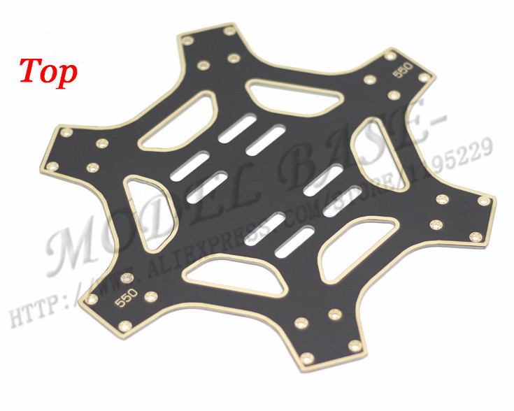 F550 6-Axis Multi-rotor Hexacopter Frame Airframe the PCB  1pcs top and 1pcs floor