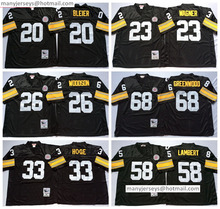 New 58 Jack Lambert 31 Donnie Shell 26 Rod Woodson Throwback 23 Mike Wagner 33 Merril Hoge 20 Bleier 68 L.C Greenwood(China (Mainland))