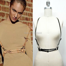2016 New Basic Style Women Men Handmade Underbust Waist Belt Y Leather Harness Body Bondage Cage Straps(China (Mainland))