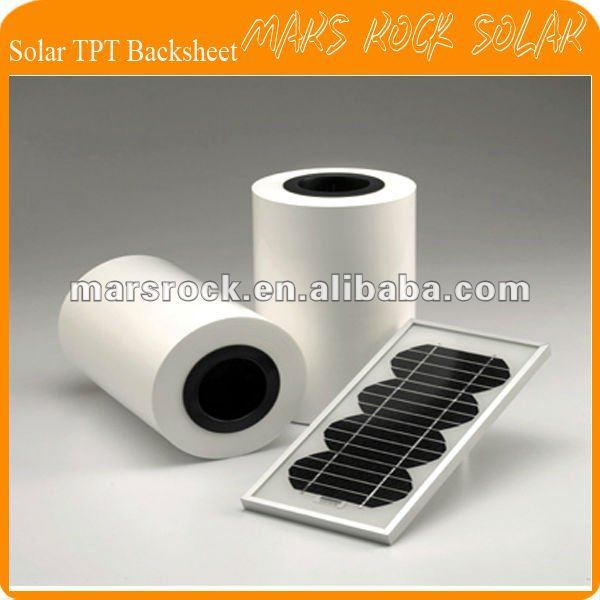 100 meters 560mm Width 0.3mm Thickness Solar back sheet / TPT Solar Encapsulation material(China (Mainland))