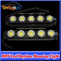 2015 New Waterproof 5-LED DRL Eagle Eyes Super bright white 10W Led Daytime Running Light Reverse Backup Light