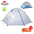 Naturehike 2 3 Person Tent Double layer Tent Waterproof Dome Tent Camping 4 Seasons Large Tent