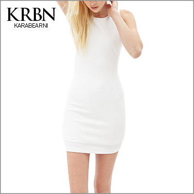 ladies summer dress 2015 women dress Sexy Bodycon Dress Casual Sleeveless O-neck mini White t shirt dress 15102-39(China (Mainland))