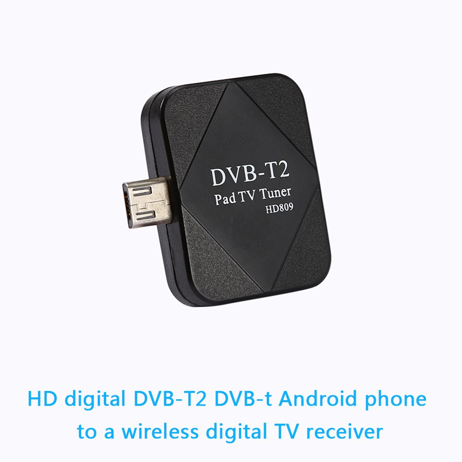 Mini DVB-T DVB-T2 Freeview HD digital TV Tuner Receiver for Android Mini USB HD TV Tuner Receiver for Android Phone Tablet PC(China (Mainland))