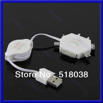 Free Shipping New 6 in 1 Multifunction USB Charging cable For Nokia SAMSUNG Sony Ericsson iPod