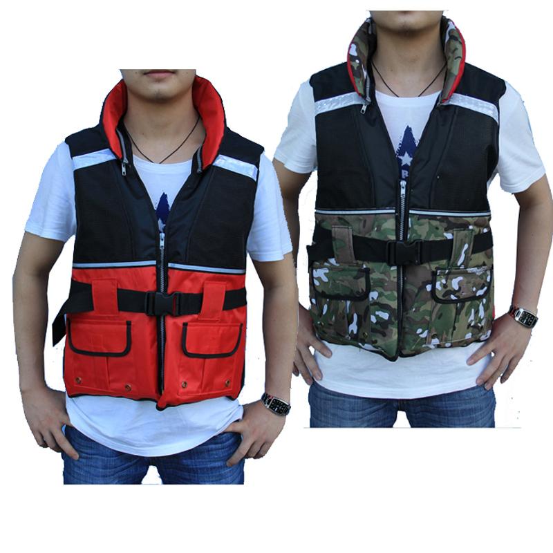 Professional Camouflage life jackets vest For adult Water ski Swim Surfing Rafting Canoe Kayak Fishing Sailing clothing Boat(China (Mainland))