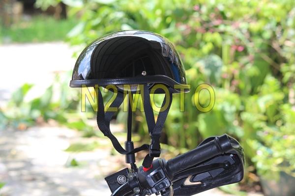 CUSTOM CRUISER BIKES GLOSS BLACK HALF HELMET SKULL CAP NOVELTY LOW PROFILE MOTORCYCLE HALF HELMET(China (Mainland))